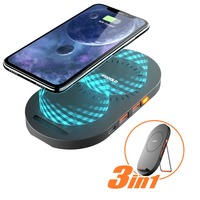 Type C Wireless Charger Pad Wofalo 2 In 1 Fast Charging Stand Mat Dock For Samsung