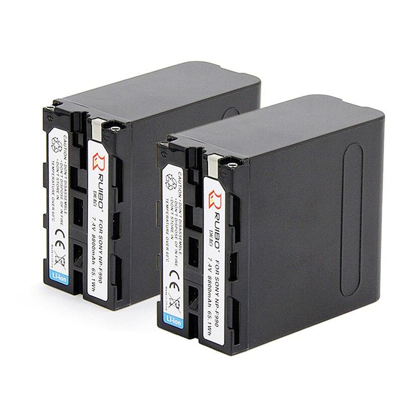 Pour SONY 8800 mAh np-f990 batterie 1500C EA50 198 P Z7C NX3 5 caméra F970 NP-F330 F530 F550 F570 NP-F730 F750 F770 NP-F930 F950