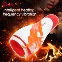 YAFEI Intelligent 10 speed Super Vibtation Heating Masturbator Cup Silicone Male Mouth Masturbation Vibrators Sex toys For Men