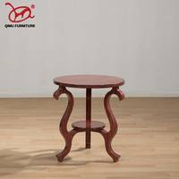 Self contained solid wood tea table antique old furniture round wooden end table suitable for the living room made in china M223