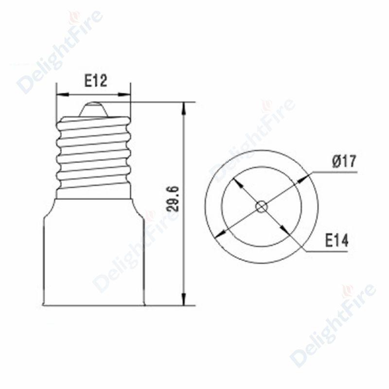 Aliexpress Com Buy 100pcs E12 To E14 Lamp Adapter E12 To E14 Lamp