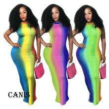 Fashion Womens Ladies Backless Bodycon Slim Long Dress O Neck Lovely Casual Gradual-chang Sleeveless Holiday