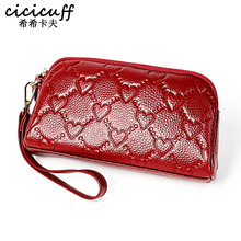Purse Wallets Money-Bag Day-Clutches Genuine-Leather Women Ladies New-Fashion Famous-Brand