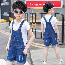 2017 New Girls Jeans Overalls Summer Fashion Children Cowboy Strap Shorts Korean Denim Jumpsuit Kids Boys Overalls Pants 2p044
