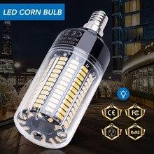 E14 Светодиодная лампа-Кукуруза E27 Светодиодная лампа 220 в 28 40 72 108 132 156 светодиодов Bombillas Smart IC энергосберегающий светильник 110 В без мерцания лампада 5736