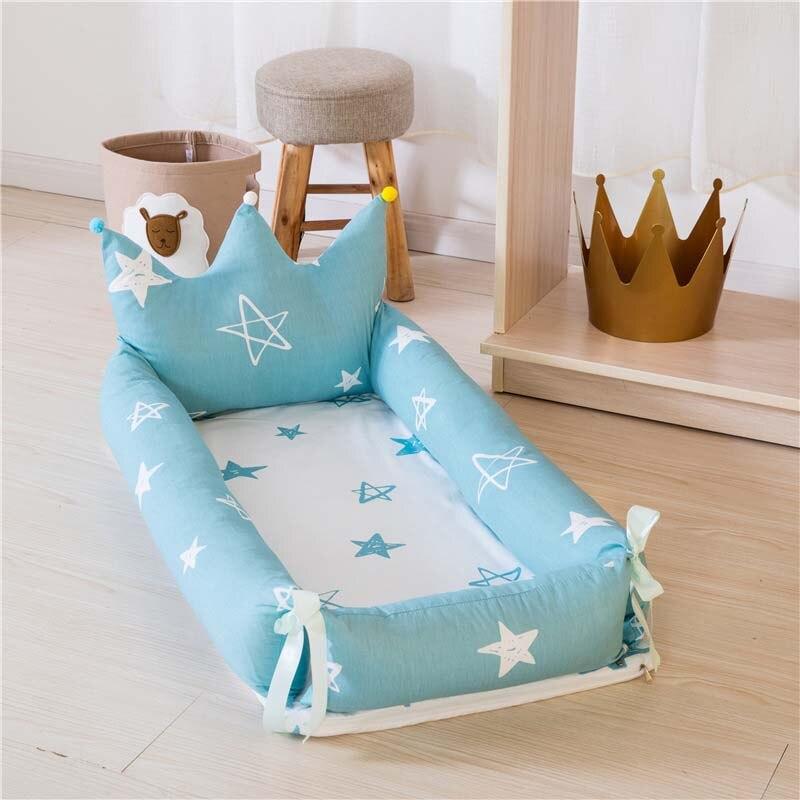 Lit bébé Portable pour les nouveau-nés impression de bande dessinée amovible et lavable couronne bébé nid pliant lit pour enfants 0-18 M lit Bionic - 3