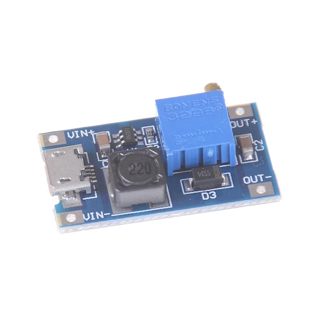 DC-DC 2~24V to 5~28V 2A  USB Boost Step Up Adjustable Regulator Power Module