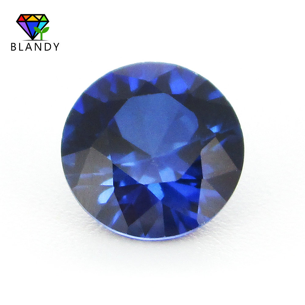 US $44 4 15% OFF|Wholesale Price 500pcs/lot 1 0~3 0mm #34 Blue Jewel Stone  Round Cut Sapphires Blue Synthetic Corundum Stone For Jewelry-in Beads from