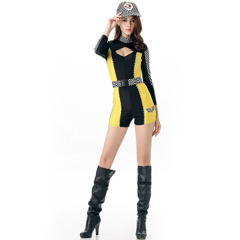 Women's Costumes Titivate Sexy High School Cheerleader Costume Girl Baseball Dance Cheer Girls Race Car Driver Uniform Party Wear New Varieties Are Introduced One After Another Sexy Costumes