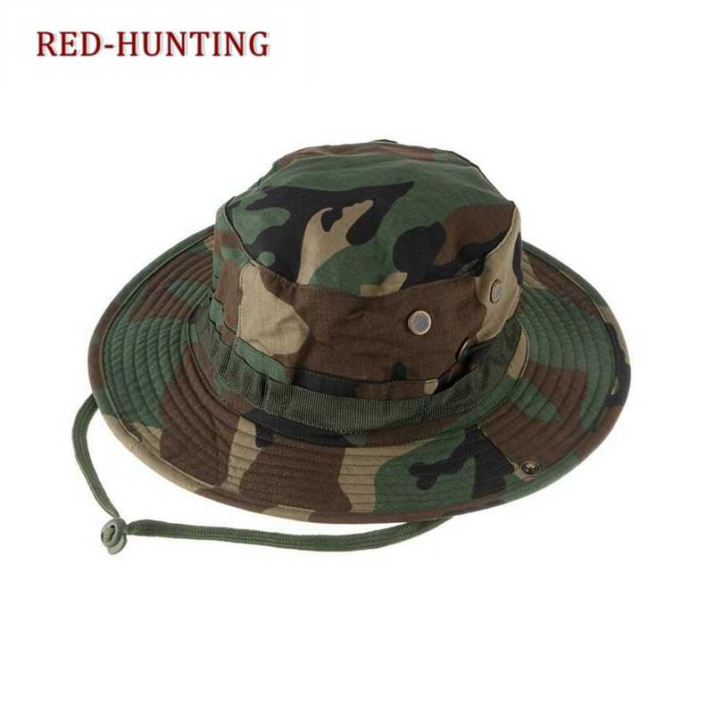Новая тактическая камуфляжная форма для страйкбола Boonie шляпы армейский Кадет Военный колпачок летняя уличная походная Мужская круглая рыболовная шляпа Huing