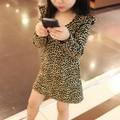 baby girls dress leopard fashion summer dress for birthday party leopard princess floral vestido infantil