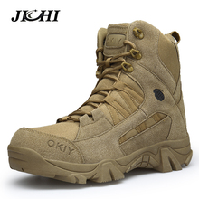 2018 Winter Fashion Military Boots Men's Comfortable Ankle Boots Men Work