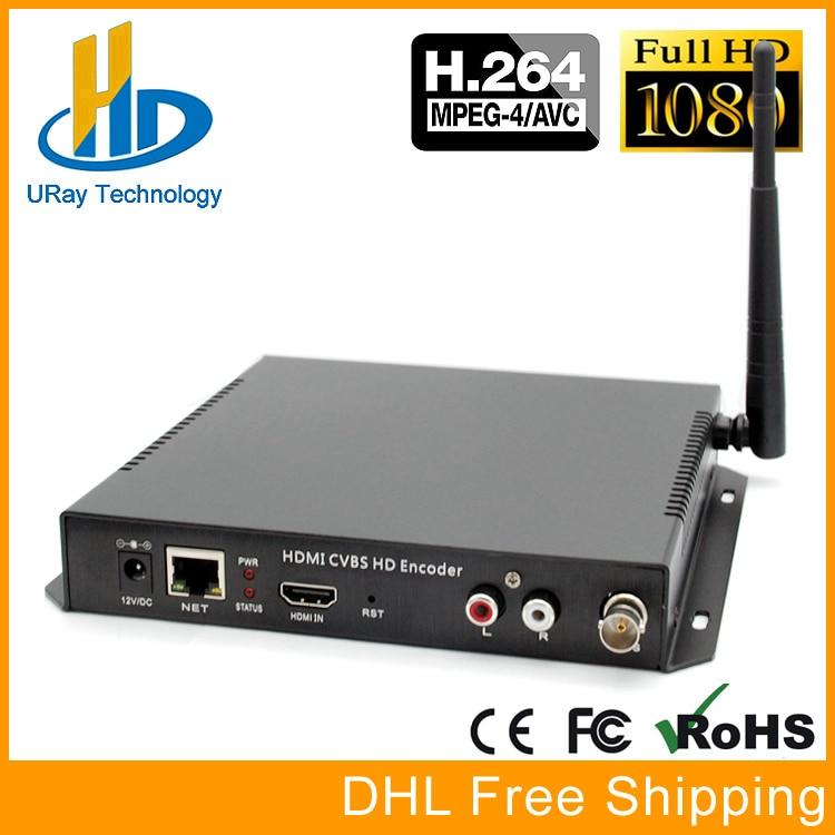 MPEG4 H264 HDMI+CVBS AV RCA Wifi Video Encoder HDMI+CVBS Encoder H.264 Wireless IPTV Encoder Streamer