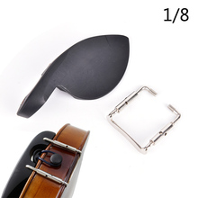 Violin Chin-Rest Violin-Parts-Accessories Wooden Silver Black with Screw Fit-For 1/4