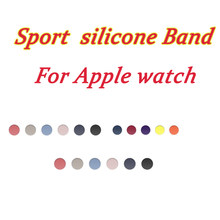Rubber sport silicone strap For Apple watch band Serie 4/3/2/1 38mm Bracelet For iwatch wristband 42mm 40mm 44mm(China)