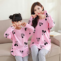 2017 mirada de la familia mickey niñas niños pijamas de manga larga pijamas de navidad juego de madre e hija ropa cotton clothing set