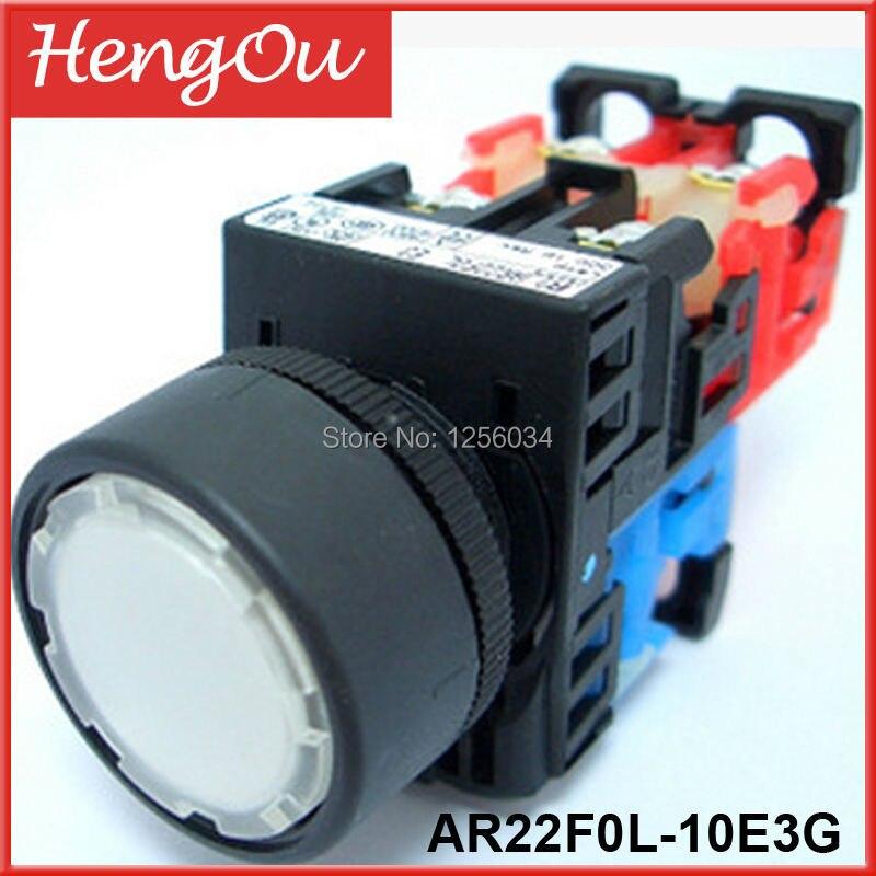 1 piece 100% original with LIGHT Flat printing button switch AR22F0L-10E3G button switch 1 15116 0110000 original