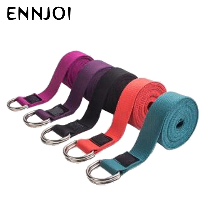 250 * 3.8cm Yoga Belt Adjustable Sport Stretch Strap D-Ring Yoga Belts Gym Waist Exercise Training Yoga Accessories women yoga stretch strap multi colors d ring belt fitness exercise gym rope figure waist leg resistance fitness bands yoga belt