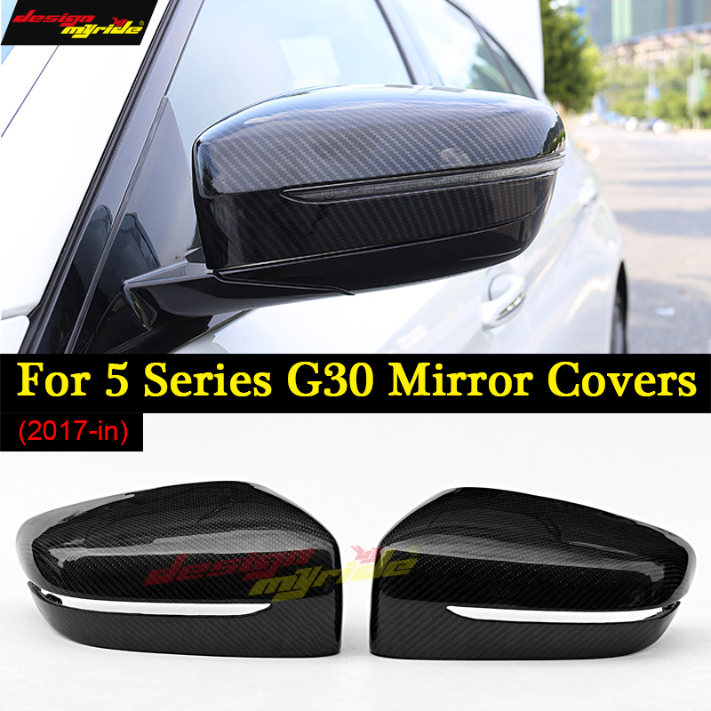 Para BMW G30 G30 de Carbono capa Espelho para BMW 520d 530d 540i 530i Capa Espelho Retrovisor M Desempenho Espelho esquerda hand drive 2017-em