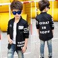Adolescente meninos carta jaquetas casacos para meninos crianças motion roupas de manga longa crianças Outerwear 4 5 6 7 8 9 10 11 12 13 14 anos