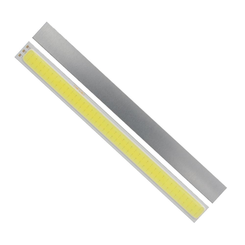 Купить с кэшбэком 10PCS/Lot allcob manufacturer 170mm*15mm double Color White Red Orange daytime run light LED COB Strip Light 12V DC 8W Moudle