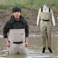 Rafting Wear Men S Chest Wader With Stocking Foot Waterproof And Breathable Fly Fishing Wader