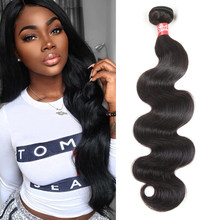 Sleek Brazilian Hair Weave Bundles 8 to 28 30 Inch Brazilian Body Wave Remy Human Hair Extension 1/3/4 Bundle Deals Free Ship(China)