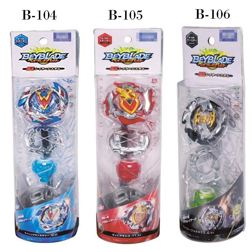все цены на 11 Style Beyblade Burst Toys B104 B105 With Launcher And Box Beyblade Toupie Metal Fusion God Spinning Top BeyBlade Toys онлайн
