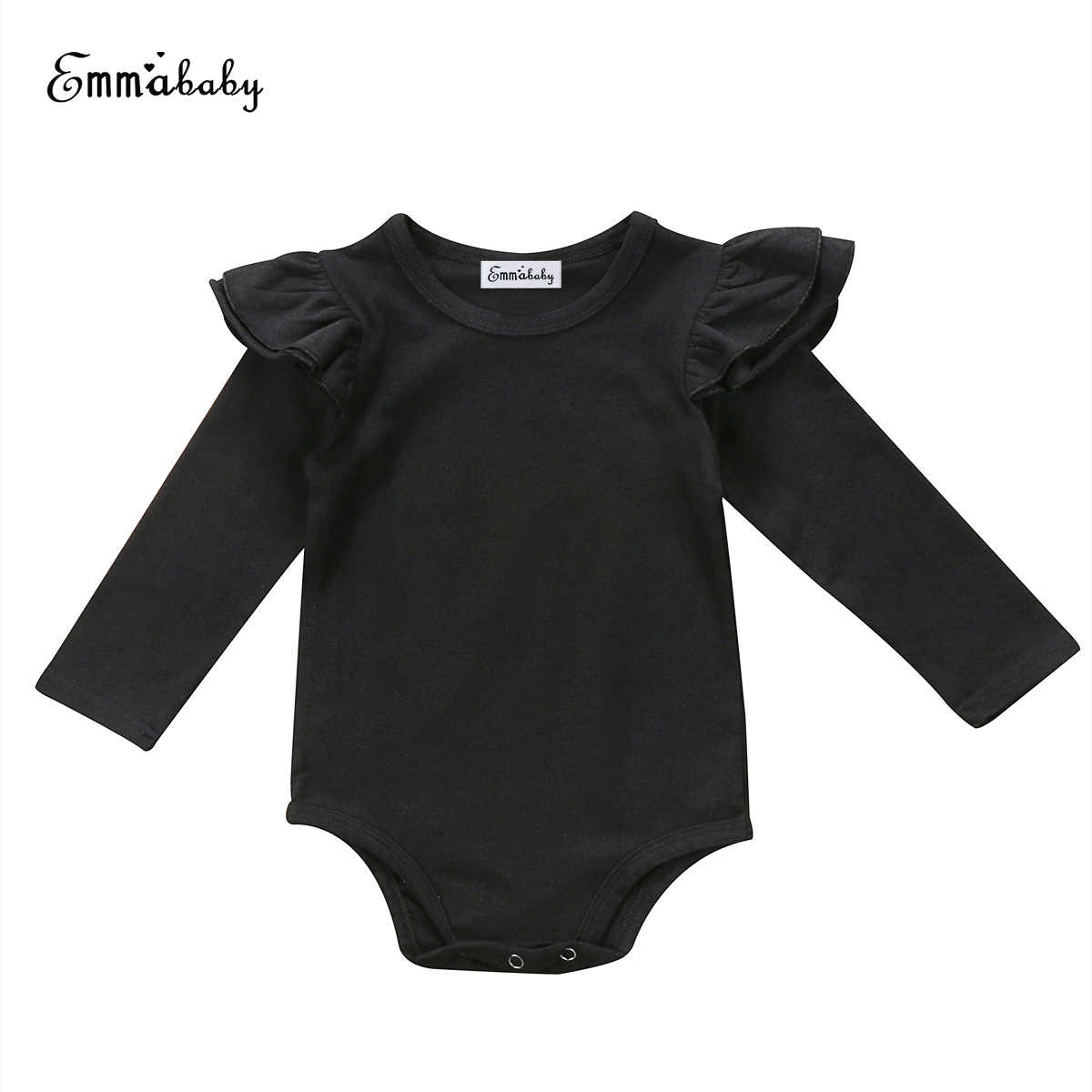 New Lovely Kid Clothes Newborn Infant Baby Girls Long Sleeve Bodysuits Jumpsuit Outfit Clothes Solid Color Cute Baby Bodysuits