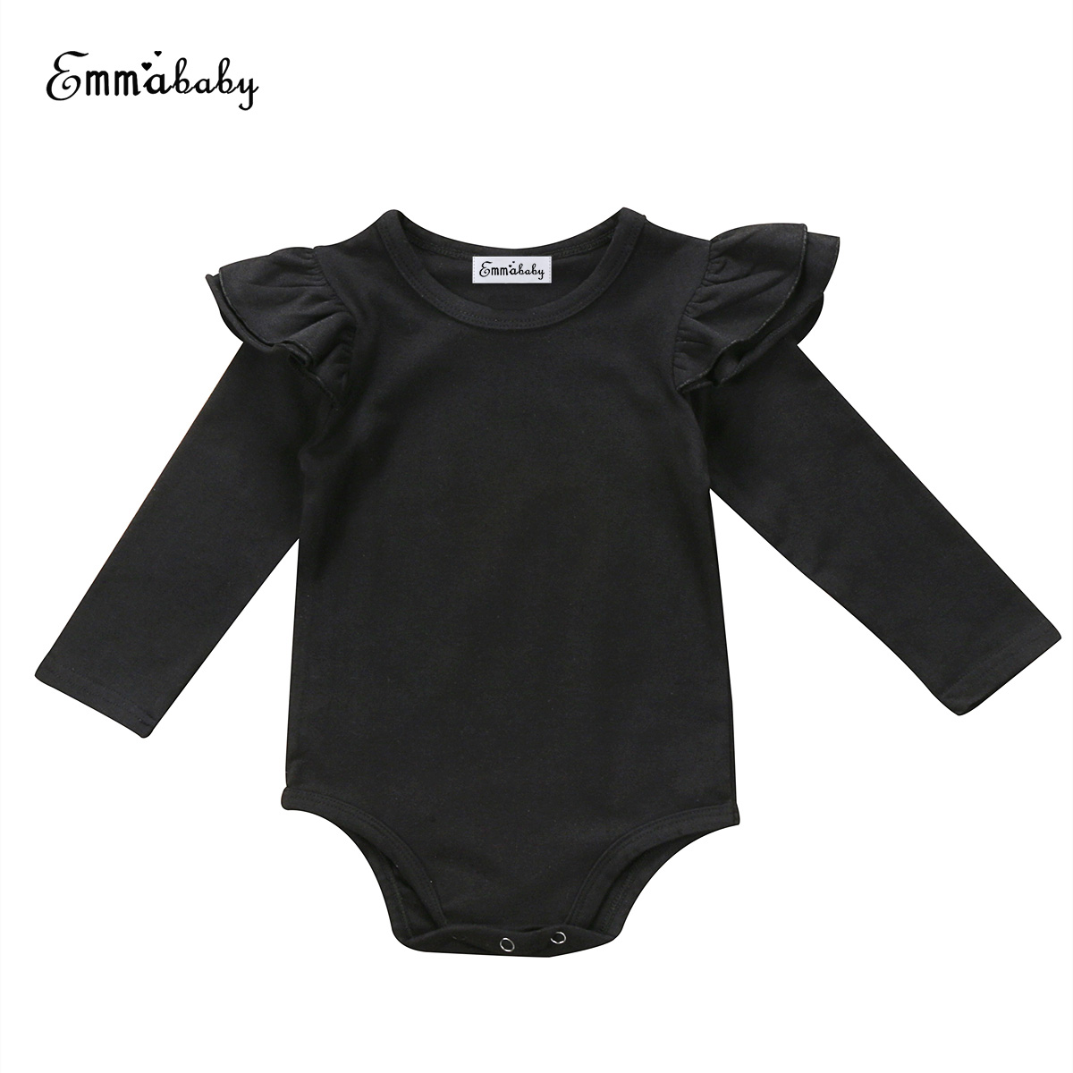 New Lovely Kid Clothes Newborn Infant Baby Girls Long Sleeve Bodysuits Jumpsuit Outfit Clothes Solid Color Cute Baby Bodysuits Одежда