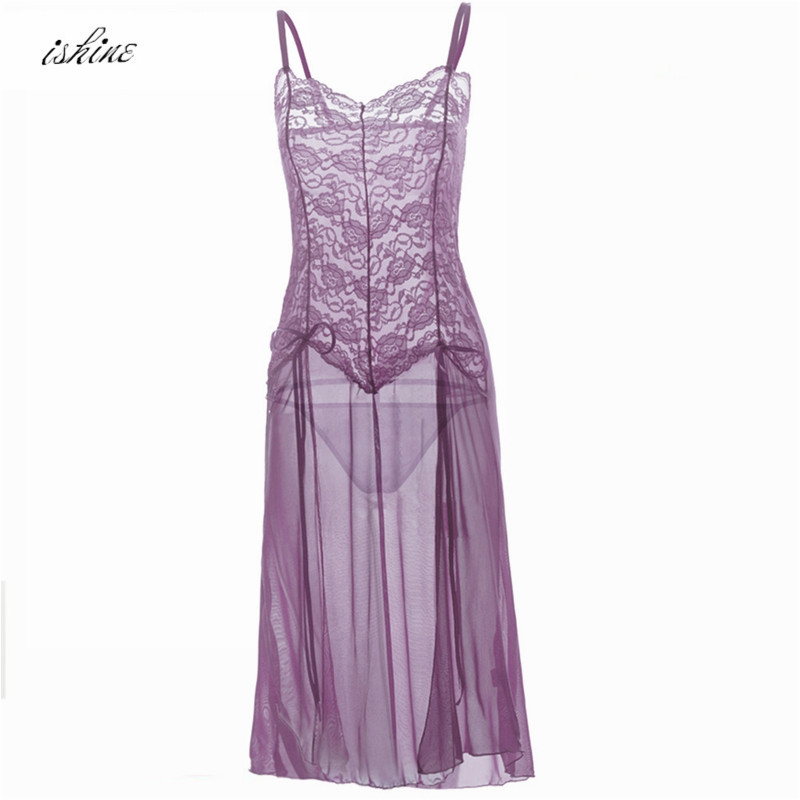 2017 New Lace Sexy Nightgowns Sleepshirts Sleepwear Women Night Dress Sexy Embroidery Lingerie Babydoll Women Summer Nightwear