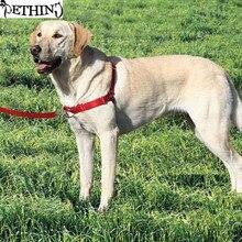 Nuevo desarrollo de caminar arnés del perro fácil frente plomo arnés correa de perro no tire del arnés fijación fuerte correa Sml para diferentes raza