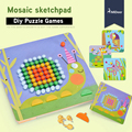 Mideer 8 стилей Мозаика Альбом DIY доска детей грибы сочетание доска головоломки детские развивающие игрушки