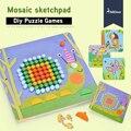 Mideer 8 estilos de Mosaico de Dibujos DIY junta niños setas combinación placa bebé rompecabezas juguetes educativos