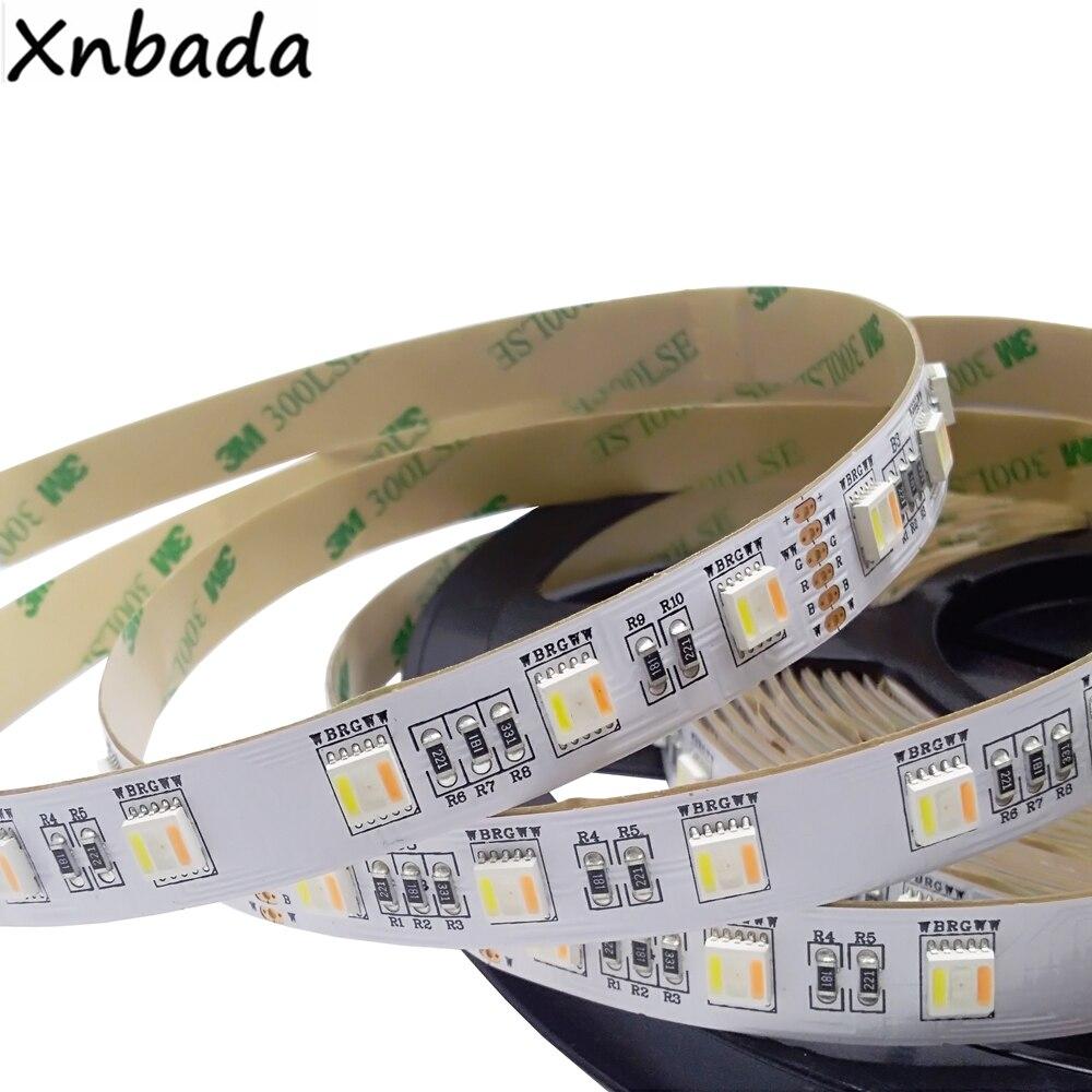 все цены на SMD5050 RGB+CCT(White+Warm White) Led Strip Light 60Led/m DC12V 24V CW+RGB+WW Chips Flexible Led Strip 5M/Lot онлайн