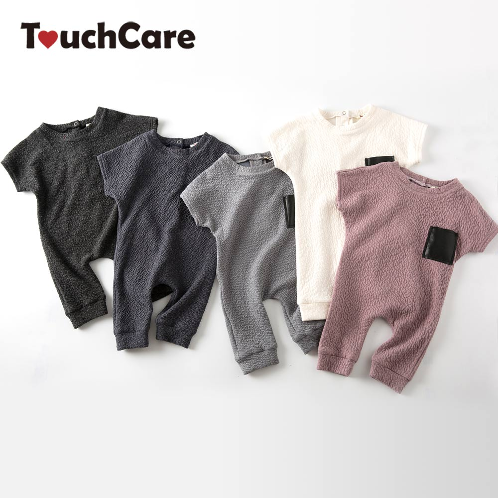 TouchCare 5 Color New Design Boys Girls Double Layer Embossed Romper Baby Cotton Fabric Jumpsuit Infant Warm Soft Party Clothes puseky 2017 infant romper baby boys girls jumpsuit newborn bebe clothing hooded toddler baby clothes cute panda romper costumes