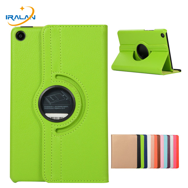 360 Degree Rotating Litchi Pattern Leather Flip Case For Xiaomi MiPad 4 Mi Pad 4 Pad4 8.0