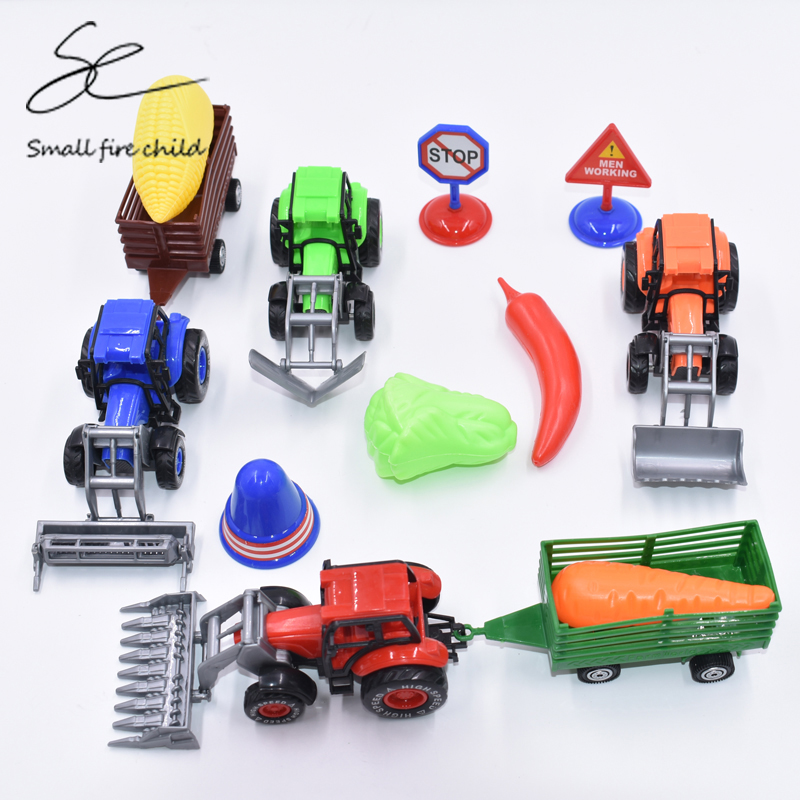 Simulation Farm Car & Vegetables Make Up Kids Educational funny Puzzle Simulation Toys Pretend Play Gadget For Children