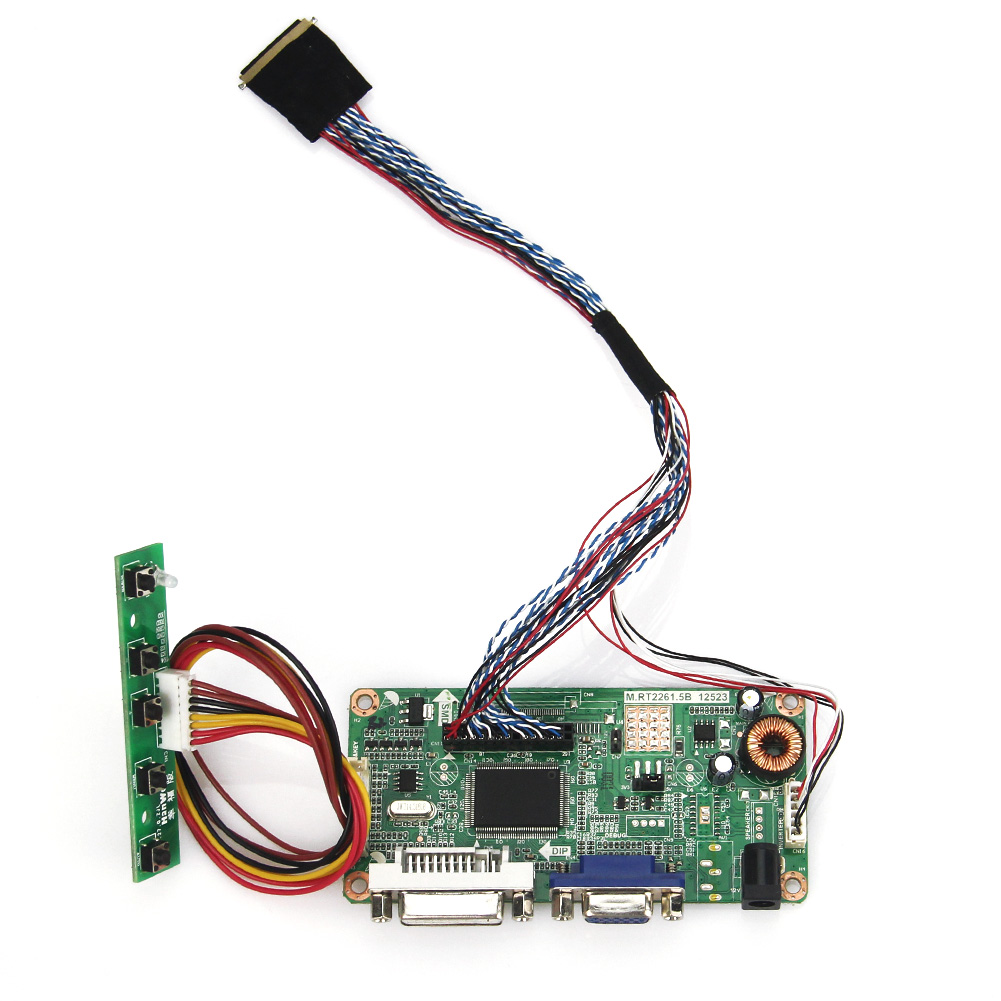 (VGA+DVI) M.RT2261 M.RT2281 LCD/LED Controller Driver Board For N089L6-L02 B089AW01 V.1 PQ 3QI-01 LVDS Monitor Reuse 1024x600