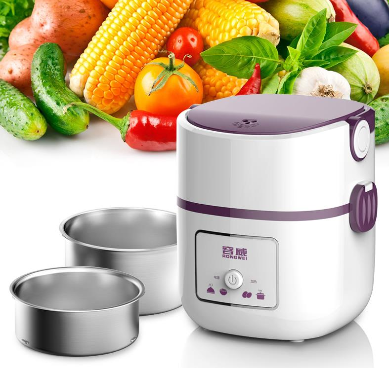 Electrical heating bento box potable picnic lunch cabinet keep wram food container mini cooker  for school offce home 3004  цены