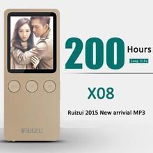 "Speaker 1.8"" 8GB MP3 MP4 Player Slim Video Radio FM Player For 64GB Micro SD TF Card Music play times 200 hours RUIZU X08"