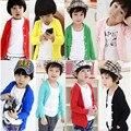 Roupa das crianças de uma peça T-shirt Longo Mangas de algodão Moda menino/menina casaco infantil no revestimento crianças 3-7Y