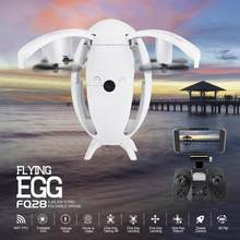 FQ777 FQ28 6-Axis Gyro Egg Shaped Drone with 2.0MP Camera WIFI FPV Quadcopter Foldable G-Sensor RC Selfie drone Toy(China)