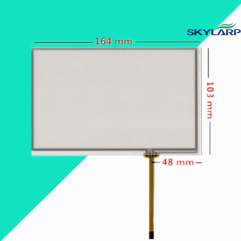 Skylarpu 7 inch 4 wire 164mm*103mm Resistive Touch Screen Digitizer for Car navigation DVD tablet PC AT070TN83 V.1 <font><b>AT070TN84</b></font> image