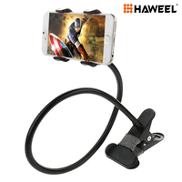 Haweel 360 Degree Flexible Long Arm Universal Mobile Phone Holder Stand Lazy Bracket With Clamping Base