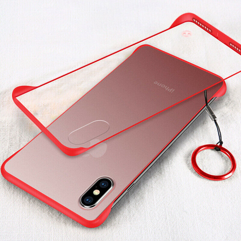 MOESOE Ultra Slim Matte Hard Case For iPhone 10 X XS Max XR 8 7 6 6S Plus Frameless Lanyard hole Transparent Clear Cover Capa