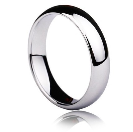 Free Shipping White Gold Color Tungsten Wedding Bands Ring Engagement