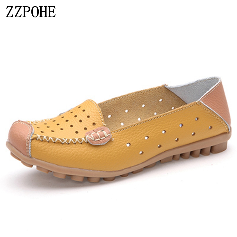 ZZPOHE 2018 spring autumn new women's shoes casual comfortable ladies flat shoes large size slip on soft woman work shoes 35-40 ym 2018 eu 35 40 spring autumn new fashion casual bow tie womens flat shoes woman shallow peas shoes ladies girls zapatos mujer