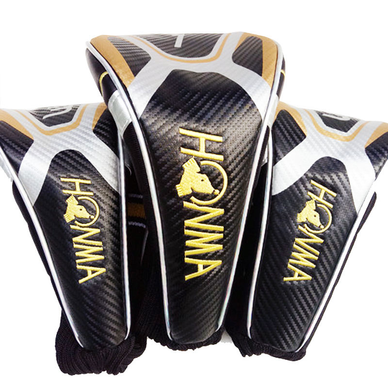 Golf Driver Head Cover HONMA Golf Woods Cover PU Golf HeadCover Dustproof Covers