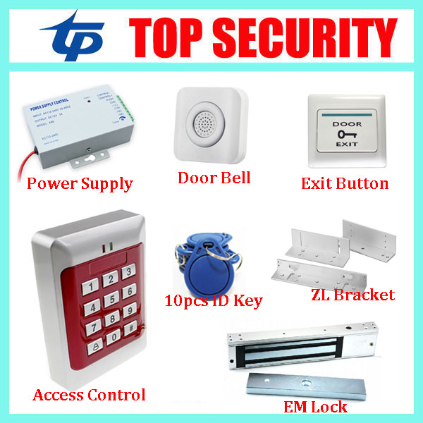 Good quality standalone 125KHZ RFID card door access controller with door locks, DIY smart EM ID card access control system good quality smart rfid card door access control reader touch waterproof keypad 125khz id card single door access controller